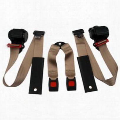 Beams Rear 3-point Shoulder Harness Seat Belts In Tan - Jpyj9295rkt-30