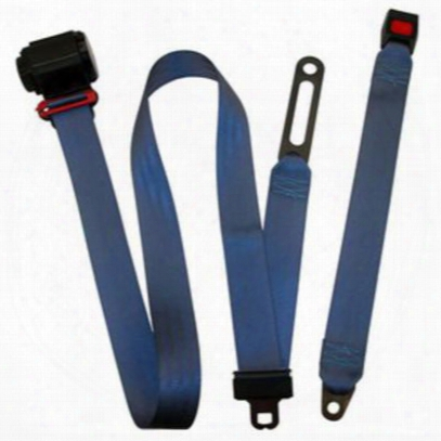 Beams Replacement 3-point Shoulder Harness Front Seat Belt In Blue - Jpyj9295f-42