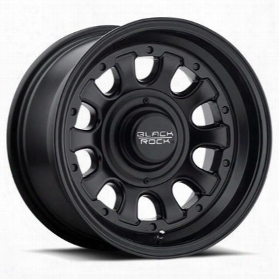 Black Rock 909 Type-d, 15x10 Wheel With 5 On 4.5 And 5 On 4.75 Bolt Pattern - Satin Black- 909b510540
