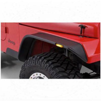 Bushwacker Jeep Yj Wrangler Front Fender Flares 10067-07 - Flat Style