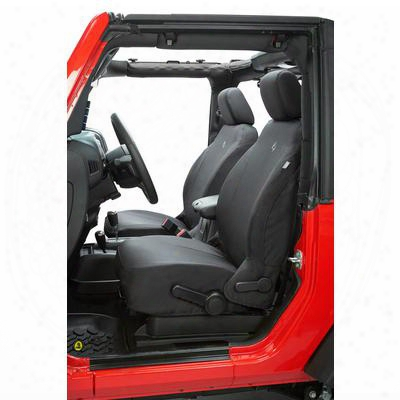 Bestop Custom-tailored Front Seat Covers (black Diamond) - 29280-35
