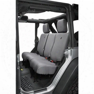 Bestop Custom-tailored Rear Seat Cover (charcoal Gray) - 29284-09