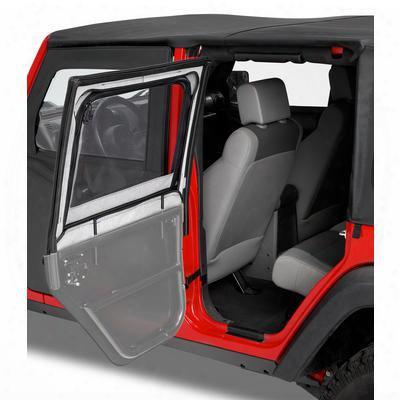 Bestop Highrock 4x4 Front Upper Element Doors In Black Diamond - 51793-35