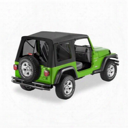 Bestop Supertop Tinted Windows No Doors Black - Jeep Wrangler Soft Top