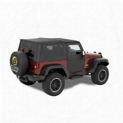 Bestop Supertop Two-piece Front Doors For Factory Tops, Supertops, And Sunrider Tops In Black Diamond - 51798-35