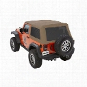 Bestop Trektop NX Glide Soft Top with Tinted Windows (Oak Tan) - 54922-71