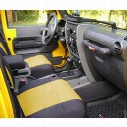 Coverking Neoprene Front Seat Covers (Black/Yellow) - SPC199