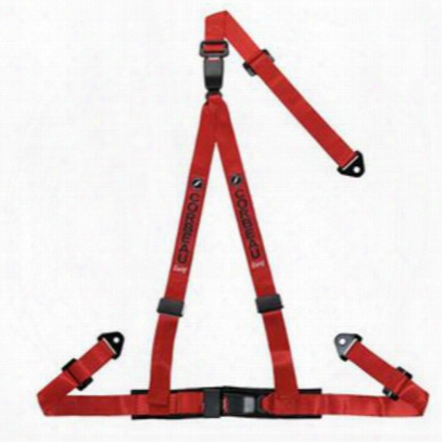 Corbeau 2 Inch 3-point Lap And Harmess Belt Bolt-in (red) - 43207b