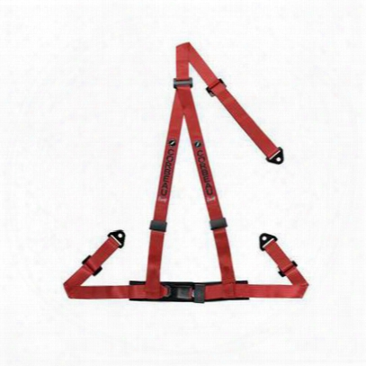 Corbeau 2 Inch 3-point Retractable Lap And Harness Belt Snap-in (red) - 43007s