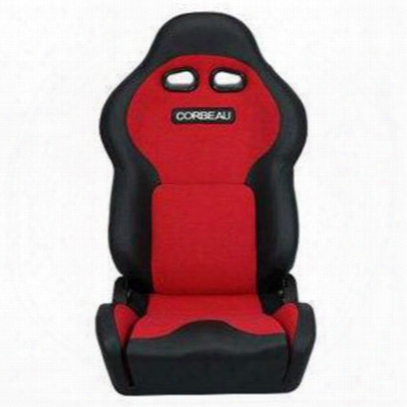 Corbeau Vx2000 Recliner Front Seat (black/ Red) - 20007pr