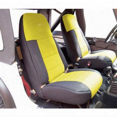 Coverking 50/50 High Back Neoprene Front Seat Covers (black/yellow) - Spc250