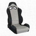 Corbeau CR1 Recliner Front Seat (Black/ Gray) - S20909PR