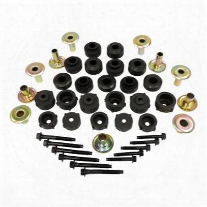 Crown Automotive Body Mount Master Kit (black) - 55176180mk