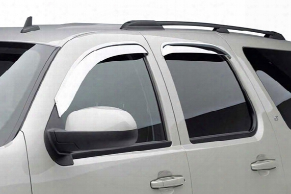 2010 Honda Pilot Black Horse Off Road External Mount Chrome Rain Guards