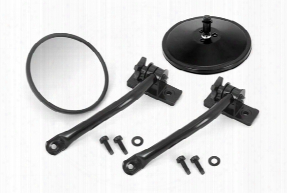 Rugged Ridge Mirror Relocation Kit - Rugged Ridge Jeep Mirrors & Relocation Brackets