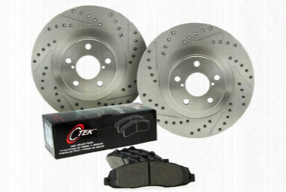 2003 Bmw 5-series Centric C-tek Drilled & Slotted Sport Brake Kit 928.34505 Rear Brake Kit