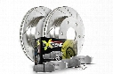 Power Stop Street Warrior Brake Kit - Z26 Pads with Cross Drilled & Slotted Brake Rotors