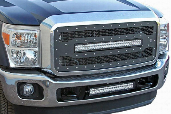 2014 Gmc Sierra Rigid Industries Led Mesh Grilles 41590 Main Grille