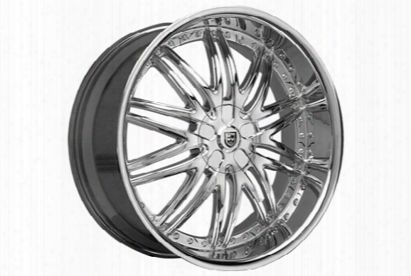 Lexani Lx-10 Chrome Wheels 630-2495-60-15c Lx-10 Chrome Wheels