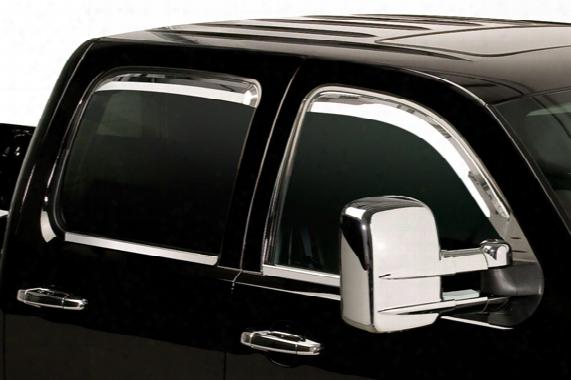 2003-2008 Honda Pilot Putco Element In-channel Chrome Window Visors