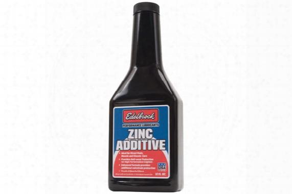 Edelbrock High Performance Zinc Engine Oil Additive 1074 High Performance Zinc Engine Oil Additive