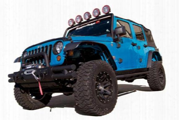 2016 Jeep Wrangler Rugged Ridge Flat Style Fender Flares 11620.1