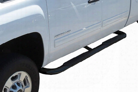 "1999-2017 Chevy Silverado Steelcraft 4"" Blackout Series Oval Nerf Bars"