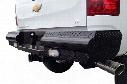 Fab Fours Black Steel Rear Bumper