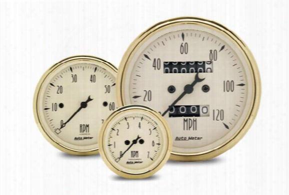 Autometer Street Rod Golden Oldies Gauges, Autometer - Automotive Gauges - Gauges
