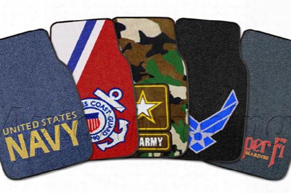 Fanmats Military Logo Carpet Floor Mats, Fanmats - Floor Mats & Liners - Logo Floor Mats