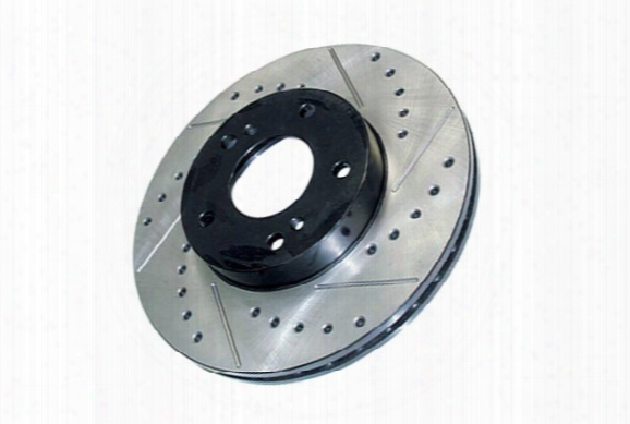 Centric Premium High Carbon Oe Design Drilled & Slotted Brake Rotors
