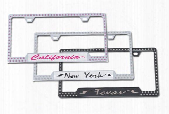License2bling Swarovski Crystals State License Plate Frames