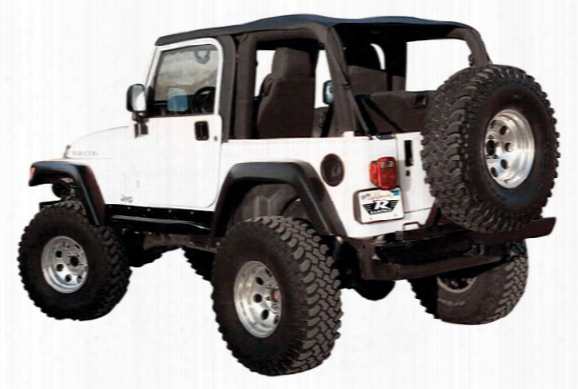 Rampage Frameless Sailcloth Jeep Soft Top - Rampage Frameless Soft Tops