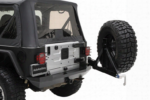 2006 Jeep Wrangler Smittybilt Xrc Rear Bumper 76654 Swing Out Tire Carrier