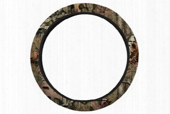 Hatchie Bottom Mossy Oak Camo Leather Steering Wheel Cover