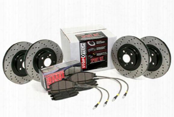 2001 Gmc Yukon Xl Stoptech Drilled Sport Brake Kit