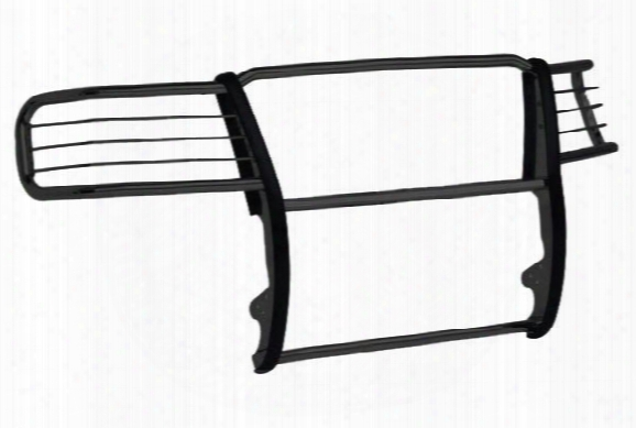 Tuff-bar Grille Guard - Tuff Grille Guards With Brush Guards - Black & Polished