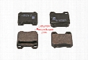 Disc Brake Pad Set - Rear - Febi 16155 SAAB 4837241
