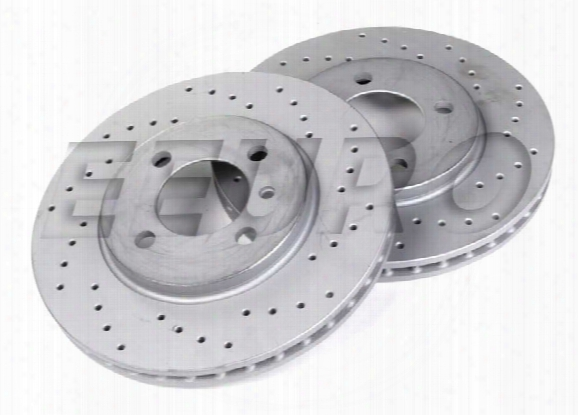 Zimmermann Disc Brake Rotor Set - Front (260mm) (cross-drilled) Bmw 34111160915