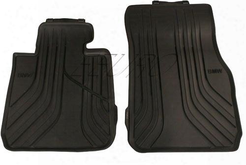 Floor Mat Set - Front (all-weather) (black) - Genuine Bmw 51472219799