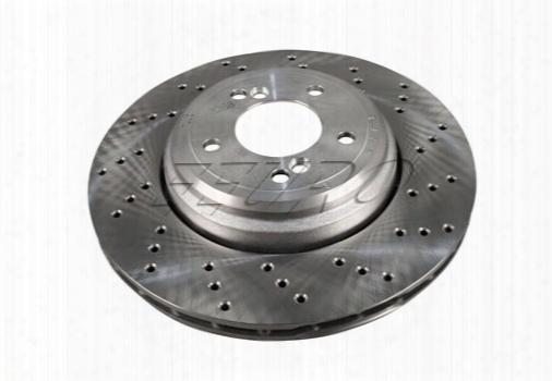Disc Brake Rotor - Rear Passenger Side (350mm) (cross-drilled) 34212283804