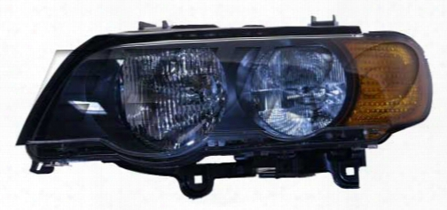 Headlight Assembly - Driver Side (halogen) (amber Turnsignal) Bmw 63126930209