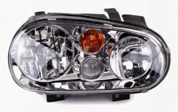 Hella Headlight Assembly - Passenger Side (w/ Foglight) (halogen) Vw 1j0941018c