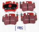 Disc Brake Pad Set - Front and Rear - EBC RedStuffs DP31514C Porsche 99635294903