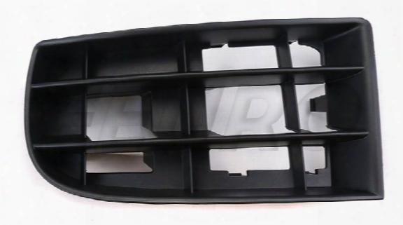 Bumper Cover Grille - Front Driver Side (satin Black) - Genuine Vw 1k0853665a9b9