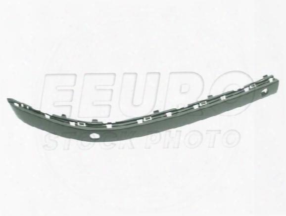 Bumper Impact Strip - Front Passenger Side (un-painted) (w/ Park Assist) (chromeline) 51117142246