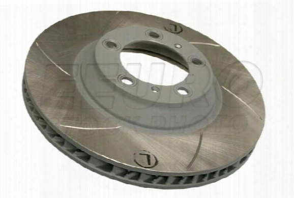Disc Brake Rotor - Front Driver Side (350mm) (cross-drilled) Porsche 99735140501