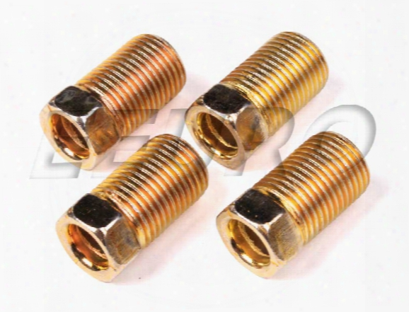 Inverted Flare Nut (1/4in) (7/16in-24 Long) (set Of 4) - Sur&r Auto Br1400