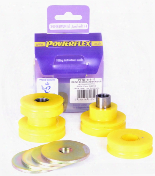 Powerflex Black Shock Mount Bushing Set - Rear (12mm) Bmw 33506771738