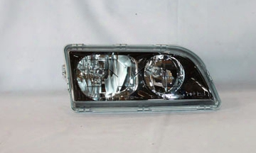 Tyc Headlight Assembly - Passenger Side (halogen) (black Bezel) Volvo 30896587